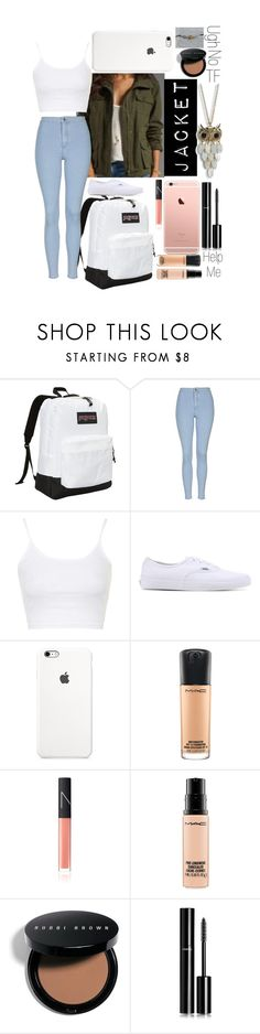 """""""Back to School"""" by lilli1da3leo ❤ liked on Polyvore featuring JanSport, Topshop, Vans, MAC Cosmetics, NARS Cosmetics, Bobbi Brown Cosmetics, Chanel and Aéropostale"""