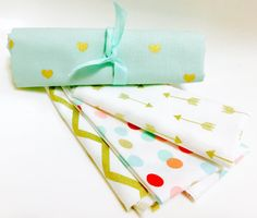 Hey, I found this really awesome Etsy listing at https://www.etsy.com/listing/250906313/gold-mint-fabric-bundle-heart-dots