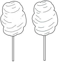 two cotton candy coloring page
