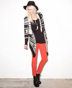 I can never get enough of these prints! F21 Open-Front Southwestern Cardi $27.80
