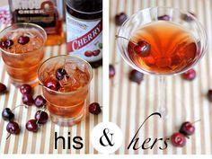 Sparkling Cherry Bourbon and Chocolate Cherry Kiss
