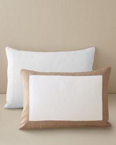 Linen-Trimmed Pillow Sham