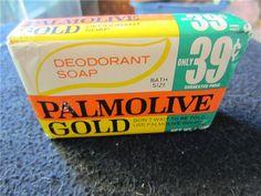 Vintage 1970s Bar of Palmolive Gold Deodorant Soap Vintage 1970s Bar of Palmolive Gold Deodorant Soap Bath - Vintage 1970s Bar of : KookyKitsch.com