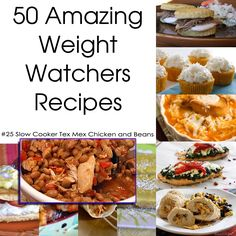 50 Amazing Weight Watchers Recipes - Slow Cooker Tex Mex Chicken and Beans