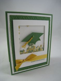 Well, it is that time of year for graduations and I have a few cards to share today for that very purpose. These cards are simple layered cards with lots of shapes and elements to create some fun a… College Graduation Cards Handmade, Graduation Diy, Handmade Birthday Cards, Greeting Cards Handmade, Shaker Cards, Congratulations Card, Kids Cards, Baby Cards, Creative Cards
