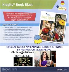 Meet author Christie Hsiao at Del Amo Fashion Center Kidgits Club Book Blast on Sat. March 22. http://kidsare1.weebly.com/kidgits-book-blast-with-christie-hsiao.html