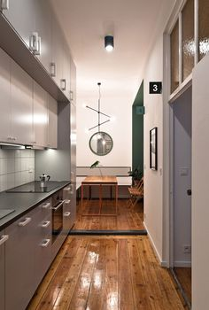 Tiny kitchen and dining space idea for the small urban apartment