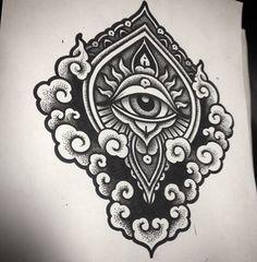 tattoos and art Body Art Tattoos, Sleeve Tattoos, Tattoo Neck, Ojo Tattoo, Third Eye Tattoos, Sacred Geometry Tattoo, Tatuagem Old School, Tattoo Portfolio, Oldschool