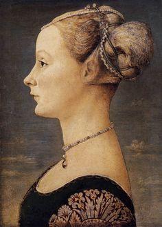 Portrait of a Girl by Antonio Del Pollaiuolo