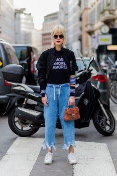 Street-Style Mailand Fashion Week Herbst/Winter 2016/17