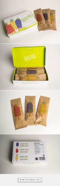Organic packaging for ice cream (concept) designed by Katie Farquhar. Pin curated by #SFields99 #packaging #design