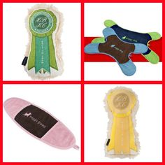 Soggy Paws Towels and Best In Show Ribbon Squeaky Toys - Available at SHOPBLUEHORSE.COM #dog #pet #canine #toy #puppy
