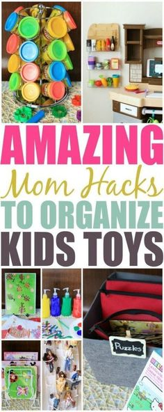 Ditch the overwhelming clutter and mess of your kids toys. Check out these amazing mom hacks that will organize your child's toys & crafts in a snap. kids playroom ideas Amazing Mom Hacks To Organize Your Child's Toys And Crafts Life Hacks Diy, Mama Hacks, House Hacks, Diy Hacks, Kids Room Organization, Organization Hacks, Organizing Toys, Playroom Ideas, Children Playroom