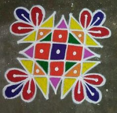 Rangoli Designs Latest, Rangoli Designs Flower, Small Rangoli Design, Rangoli Ideas, Rangoli Designs Diwali, Rangoli Designs Images, Rangoli Designs With Dots, Henna Designs Easy, Kolam Rangoli