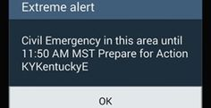 "Thousands of cellphone Users Receive Govt 'Emergency Alert' 12-10-14  Kentucky residents told to ""prepare for action"" Thousands of cellphone users in Kentucky were surprised to receive an ""emergency alert"" from the federal government warning them to ""prepare for action,"" a message local authorities later blamed on ""human error"" during … Continue reading →"