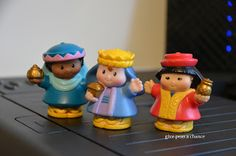 """""""Wandering Wise men"""" instead of """"Elf on the Shelf"""" - move the Wise men around the house, they could face obstacles, maybe stop for food and drinks etc all month until Christmas morning they would arrive at the correct spot."""
