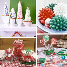 Simple Christmas Table Decorations | 50 Great & Easy Christmas Centerpiece Ideas | DigsDigs