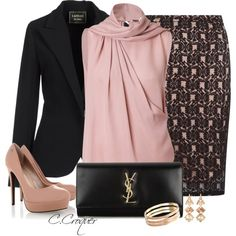 """Black&Blush 2"" by ccroquer on Polyvore"