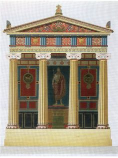 Jacques-Ignace Hittorff, Reconstruction of the Temple of Empedocles at Selinunte, Sicily, Greece Architecture, Ancient Greek Architecture, Architecture Drawings, Classical Architecture, Historical Architecture, Architecture Details, Gothic Architecture, Ancient Rome, Ancient Greece