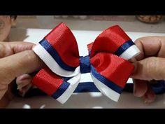 Laço boutique - YouTube Pink Hair Bows, Ribbon Hair Bows, Bow Hair Clips, Ribbon Bow Tutorial, Hair Bow Tutorial, Fancy Bows, Toddler Hair Clips, Bow Pattern, Boutique Hair Bows
