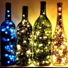 Bouteille lumineuse pour Noel