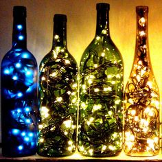 Bouteille lumineuse pour Noel