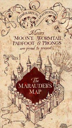 Marauder\'s Map | Wallpapers | Pinterest | Harry potter wallpaper ...