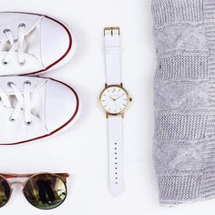 So fresh and perfect with The Whitehaven #johntaylorwatches Women's watch style. Unisex watches. Woman's watch. Australian brand.