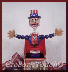 Handmade OOAK Patriotic Uncle Sam Fourth of July by cre8orstouch, $60.00
