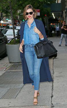 Der Jeans-Look von Miranda Kerr zum Nachshoppen
