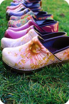 b1d508c8a0 Dansko and Sanita shoes, all in a row Via PrettyThingsBlog.com My Fav Shoe