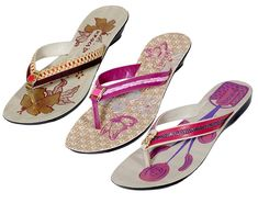 Indistar Women's PU Krocs Flip Flop(Set Of 3 Pair) *** Check out the image by visiting the link.