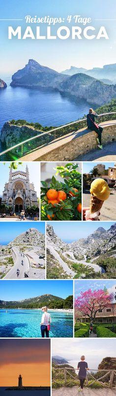Erfahre wie du 4 großartige Tage auf Mallorca verbringst! Mit Tipps & Sehenswürdigkeiten.