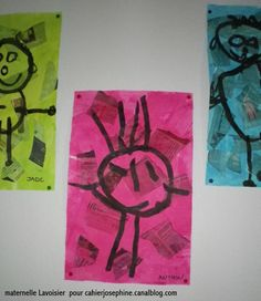 Collage amb paper de diari, aquarella per sobre i dibuix de la figura humana amb pintura negra.
