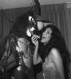 Gene Simmons + Cher 1979