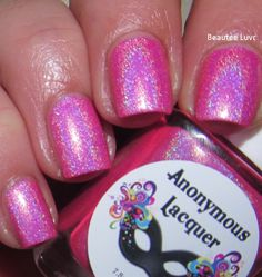 Anonymous Lacquer - Electric Cotton Candy - Hella Holo Customs April 2015 - HHC Group Custom