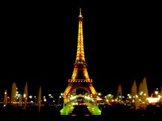The Eiffel Tower in the City of Lights, Paris, France... Truly a sight to see; I never thought i'd be so impressed by it, but when i stood under it and looked up, i was amazed! Especially at night!!