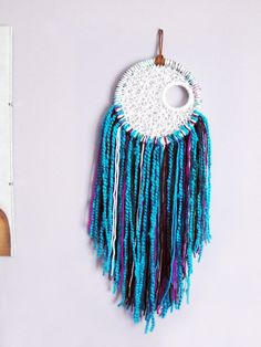 Check out this item in my Etsy shop https://www.etsy.com/listing/504613003/blue-dreamcatcher-string-art-wall-art