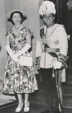 The Queen with King Faisal II of Iraq