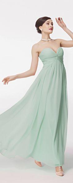 Gruen Abendkleid lang Brautjungfernkleider fuer hochzeit