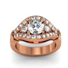 1.15ct. tw/ 10K Rose Gold Diamond Engagement Ring by WorldJewels