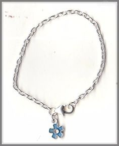 Daisy Flower Charm Silver Plated Bracelet/Anklet(18cm)  by MadAboutIncense - $6.50