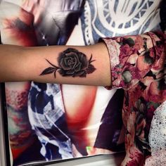 small rose tattoo #ink #youqueen #girly #tattoos #flower #rose @youqueen