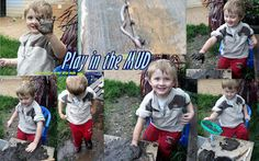 Adventures at home with Mum: Mud is good for you, right?