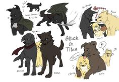 Attack on Titan--them as dogs!