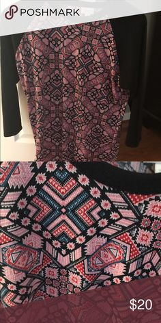 LuLaRoe Medium Randy LLR Medium Randy. Worn once and washed to LLR standards. No flaws, excellent condition. LuLaRoe Tops