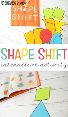 "Shape activities are a big part of early learning curriculum. The book, ""Shape Shifters"", is such a wonderful book to help engage your students in a wonderful shape shift interactive activity. Grab the free printable of shapes and the book ""Shape Shift"" and start this fun interactive shape activity with your students. #shapes #shapeshift #freeprintable #handsonlearning #learningwithbooks"