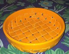 Primogi Orange Tangerine Basket Weave Porcelain Pottery Bowl Italy Primo'gi