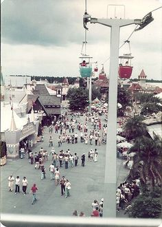 On the Skyway at the Magic Kingdom at Walt Disney World - 1976 -  by Castles, Capes & Clones, via Flickr