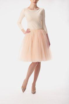 Petticoat & Unterrock - Tüllrock / Petticoat champagne - ein Designerstück von Fanfaronada bei DaWanda